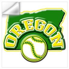 Oregon Baseball Wall Decal